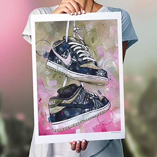 SB Dunk Low Travis Scott - Impresión (50 x 70 cm), sin marco.