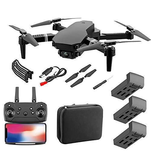 Drone con videocamera HD, drone pieghevole con grandangolo 120 °, quadricottero RC per adulti con funzione di ritorno a chiave, funzione di altezza fissa e funzione di rotazione a 360 °