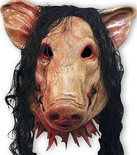 Bear boys Halloween Festival Party Show Celebration Prop Bar Decoration Cos Cosplay Animal Pig Chainsaw Maniac Ghost Horror Head Mask Masquerade Headgear (a)