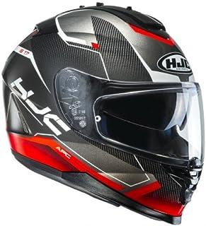 HJC Helmet Motorrad-Helm IS-17 Loktar, Black/Red, Größe S