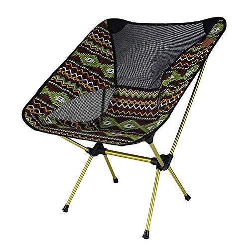 RETYLY Ultraleicht Tragbar Flaten Camping Stuhl Tragbarer Mund Stuhl Im Freien Mit Indischen Motiven