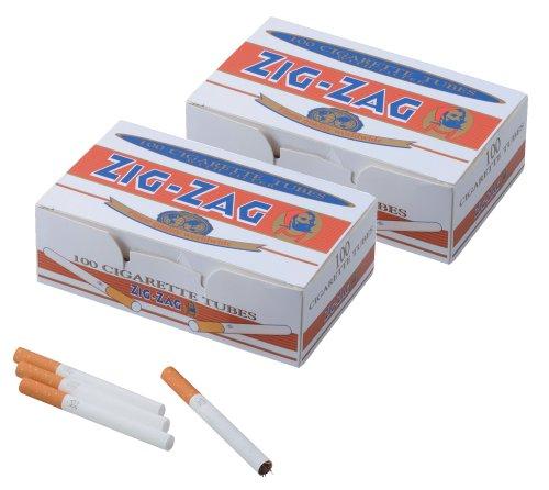 柘製作所(tsuge) 手づくりシガレット用 フィルター付きチューブ(さや紙) ジグザグ レギュラーチューブ [100本入り] #78871 ×2パック