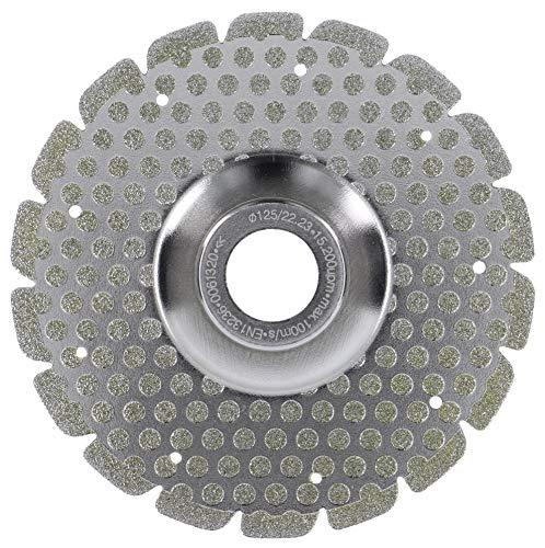 PRODIAMANT Fliesen Dual Tile Fliesenscheibe zum trennen schleifern engraten und anfasen von Fliesen Feinsteinzeug und Naturstein, trocken und nass verwendbar 125 mm mit passendem Flansch