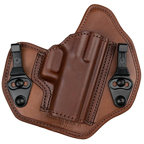 BIANCHI Model 135 Suppression Tuckable Inside Waistband Holster Fits Colt 1911, Right Hand, Tan, Size 14 (1157739)