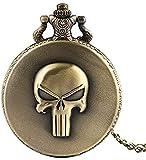 Hombres, Mujeres, niños, niños, PAL Collares Evil Skull Head Reloj de Bolsillo de Cuarzo Moda Cool C...