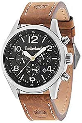 Timberland Herren Analog Quarz Uhr mit Leder Armband TBL15249JS.02