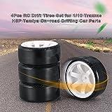 KinshopS - Juego de neumáticos de 4 piezas RC Drift para 1/10 Traxxas HSP Tamiya - Recambios para...