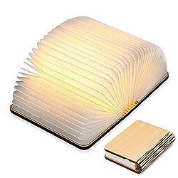 Hölzerne faltende Buch-Lampe