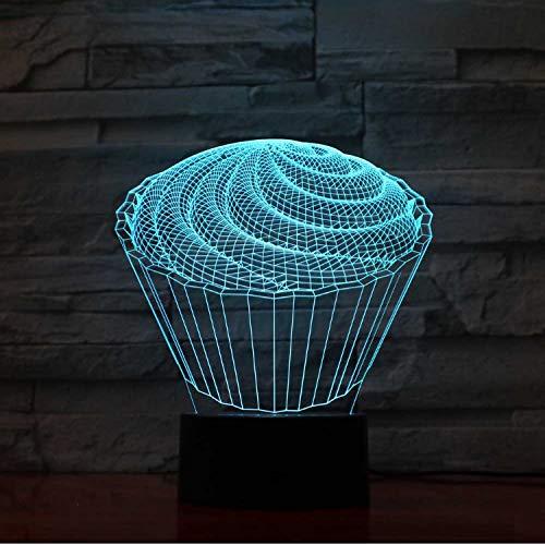 Coloré 7 Bébé Chambre À Coucher Décor 3D Led La Spirale Cake Table Lampe Enfants Jouets Cadeaux Veilleuses Chevet Dessert Luminaires