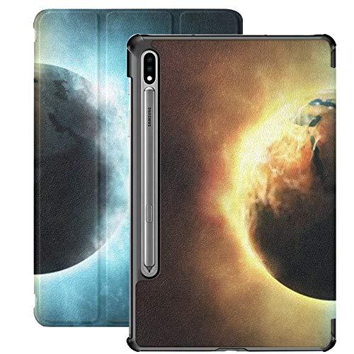 Funda para Galaxy Tab S7 Funda Delgada y Ligera con Soporte para Tableta Samsung Galaxy Tab S7 de 11 Pulgadas Sm-t870 Sm-t875 Sm-t878 2020 Release, Water Fire