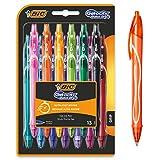 BIC Gel-ocity Quick Dry Bolígrafos de Gel de punta media (0,7mm) - Colores Surtidos, Blíster de 13 Unidades – Bolígrafo retráctil con tinta de secado ultrarrápido