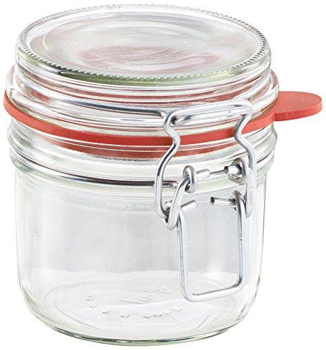 Leifheit Drahtbügelglas, 255 ml, spülmaschinenfestes Einmachglas, Vorratsglas zum Einlegen, Einmachen und Einkochen, dekoratives Einmachglas mit Deckel