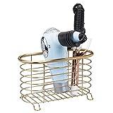 mDesign Soporte para secador de Pelo sin Taladro – Prácti