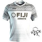 GWCASA Nouveau Maillot de Rugby des Fidji, Haut de Maillot de Football pour Hommes, Maillots de Rugby à Domicile et à l'extérieur-A-L