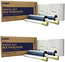 Two Boxes of RX1HS 4X6 Media, Paper and Ribbon KIT for DNP DS-RX1HS Printer (Total of 2800 Prints). Comes with Free Samples of Our Photo folders (Eventprinters Brand).