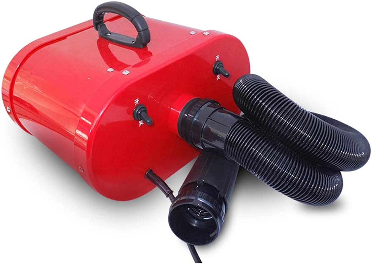 Dog Dryer, Pet Beauty Grooming Cat Hair Dryer Professional Heater Shock Blower Suitable For All Small Animals (Red)