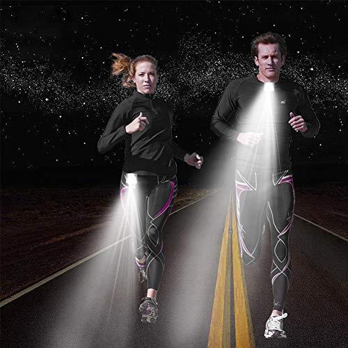 XuBa LED-Brustlampe mit USB-Ladekabel, Sicherheitslicht, mit Befestigungs-Clip, Notfalllicht für Läufer, Fahrradfahrer, Jogger, zum Camping, Angeln, Klettern
