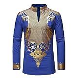 Chyoieya Camisa africana con estampado de Dashiki para hombre, estilo hipster, ropa de calle africana, camisas de hombre, trajes casuales tradicionales