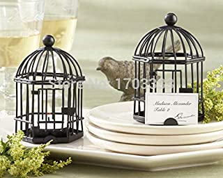 Tealight Candle Holders Wedding - Wholesale 100pcs Lot Black Color Birdcage Tealight Candle Holder Wedding Party Favor Gift Decoration - Antique Paper Flower Led Small Halloween Stand Tall Wood C