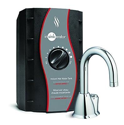 InSinkErator HOT100 Instant Hot Water Dispenser System - Faucet & Tank, Chrome, H-HOT100C-SS