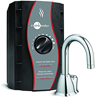 InSinkErator HOT100 Instant Hot Water Dispenser System - Faucet & Tank, Chrome, H-HOT100C-SS