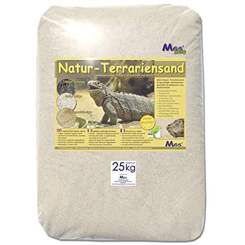 MGS SHOP 25 kg Terrariensand Natur BEIGE weich 0,3-0,6 mm