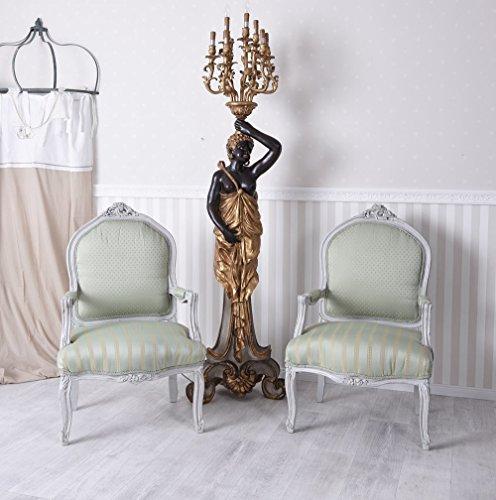 Palazzo Exclusive - Juego de 2 sillones barrocos con reposabrazos y dos sillones barrocos