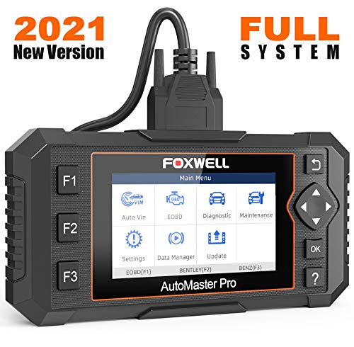 FOXWELL NT624 Elite Automotive Scan Tool Obd2 All Systems Diagnostic Scanner for All Cars with Oil Reset and EPB Service, Check Engine Transmission ABS SRS EPS HVAC Body Headlight, ect.
