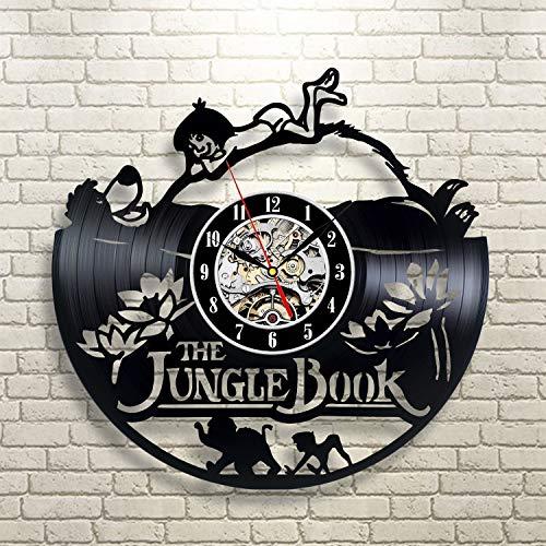 Il libro della giungla Orologio da parete in vinile Il libro della giungla Decorazioni per la casa Il libro della giungla L'idea degli interni Il libro della giungla Decorazioni murali Idea regalo