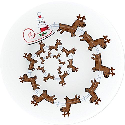 Alessi Amgi49 Christmas Spiral Plat à Panettone en Porcelaine Décorée