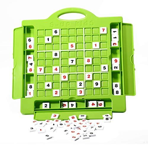 TOYANDONA 1 Jeu de Nombres Sudoku Jeu Sudoku Ensemble Complet Développement Logique Jouet Math Casse-Tête Jouet de Bureau pour Enfants Adultes Débutant Vert