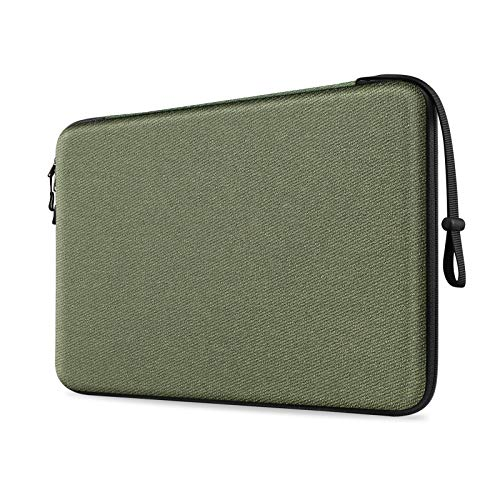 FINPAC 13-inch Hard Shell Laptop Sleeve Case for 13.3' MacBook Pro/Air, Surface Laptop 3/2, Dell Inspiron 13/XPS 13, Shockproof & Water-Resistant Notebook Carrying Cover Protective Bag (Green)
