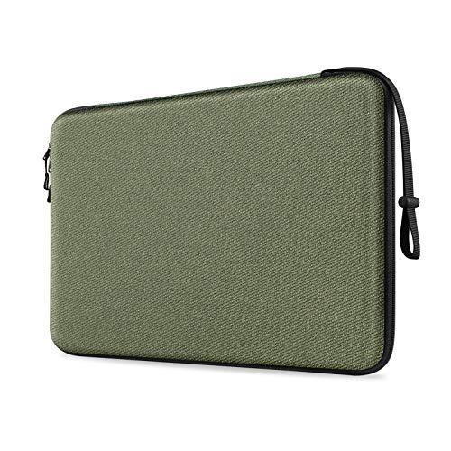 Fintie Funda para Tablet y Portátil de 13', Concha Dura Bolsa para 13.3' MacBook Air A2337 M1 A2179 A1932, MacBook Pro 13 A2338 A2251 A2289 A2159 A1989 A1706 A1708, Surface Pro 7/X/6/5/4/3, Verde