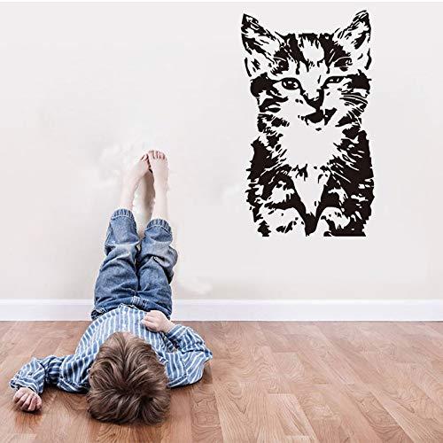 Kitty chat vinyle autocollant mural décoration chambre autocollant 35 * 60cm de la maison des enfants