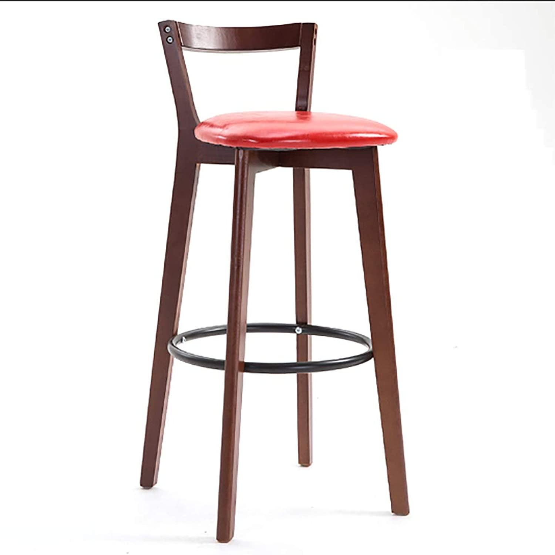 Solid Wood Bar Stool High Stool Bar Stool Modern Minimalist Home Leisure Bar Chair Stool Back Chair (color   C)