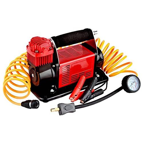 YCDJCS Inflador De Neumáticos De Coche Portátil De Alta Presión Y Alta Potencia De 12 V 400 W Compresor De Aire Ligero Y Portátil Multifunción para compresores de Aire (Color : Red, Size : 24V)