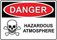 注意サイン-危険な危険な雰囲気。通知のためのインチ通りの交通危険屋外の防水および防錆の金属錫の印