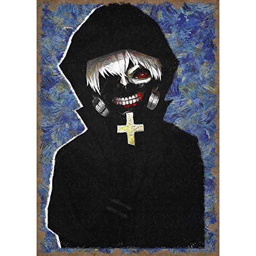 PENGDA DIY Diamond Painting Horror Cartoon Characters Wall Art Tokyo Ghoul Cross Stitch Kaneki Ken Picture 5d Embroidery Mosaic Handmade Home Decoration Anime Full Square Drill Gifts