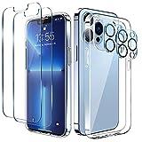 LK Cover Compatibile con iPhone 13 PRO 6.1 Pollici Custodia, 4 Pezzi - 2 Pellicola Protettiva...