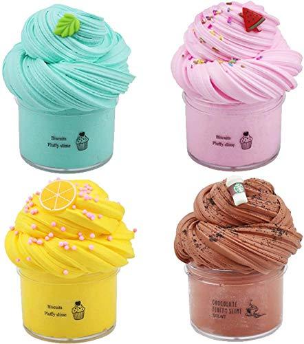 Cherry Butter Fluffy Slime, BESTZY Slime Supplies Juguete de Bricolaje para aliviar el estrés, Masilla de Juguete Flamingo Cloud Slime, DIY Arcilla Colorida Suave, 100 ML