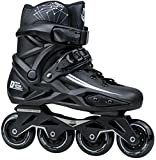 Hmwxbs Men's and Women's Inline Skates, Professional Skates, Inline Skates, Black Suitable for Adults, Children and Beginners,43 EU/10 US/9 UK/26.5cm JP