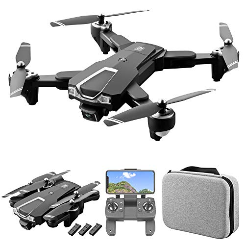 GoolRC LS-25 GPS Drone with Dual Camera, 5G WiFi FPV Drone with 4K HD Front Camera and 1080P Bottom Camera, RC Quadcopter with Optical Flow Positioning, Follow Me, Storage Bag and 3 Batteries