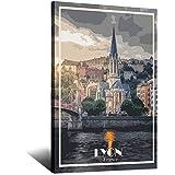 Lyon Poster Frankreich Vintage Reise Poster Leinwand