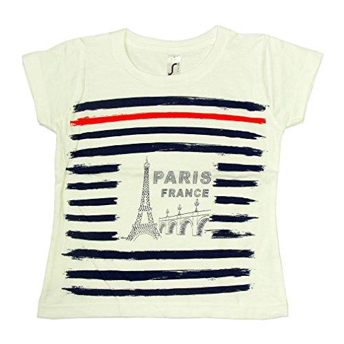 T-Shirt Bébé Paris 'Marin' - Blanc (12-18 Mois)
