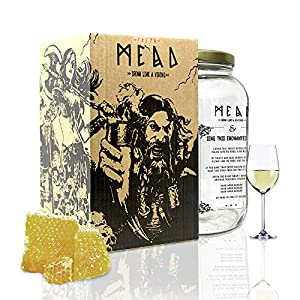 #My Brewery DRINK YOUR OWN BEER | Kit para fabricar Hidromiel | 3,8 litros | Receta azahar | 11% ALC. | Miel andaluza