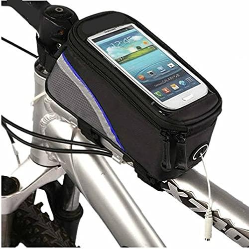 1 unid bici frontal marco bolsa universal bicicleta manillar bicicleta montaña delantero viga bolsa esquina bolsa almacenamiento 19.5 × 10 × 9 cm