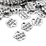 200 Unidades Antique botones de metal hechos a mano Etiqueta colgante DIY...