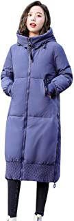 Women Winter Jacket Long Trench Coat Parka Jacket Warm Fur Hooded Down Quilted Jacket
