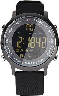GXFNS Reloj Inteligente Impermeable Profundo Sin Necesidad De Cargar Bluetooth En Espera Prolongado Contador De Pasos Deportivo Recordatorio De Información De Llamadas,Negro