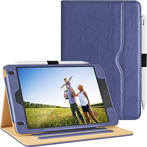 Hülle für iPad Mini 5 2019 / iPad Mini 4 2015 7,9 Zoll Leder, [Eckenschutz] Multi-Winkel Stand Schutzhülle mit Pencil Stifthalter, Auto Schlaf/Wach für Apple iPad Mini (5. / 4. Generation), Blau